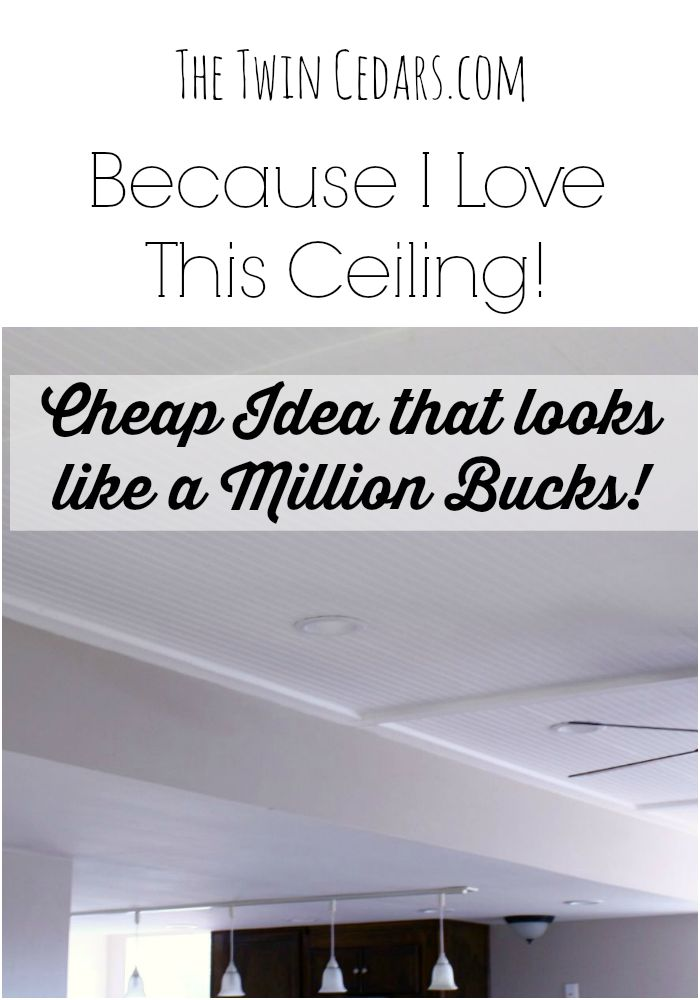Because I Love This Ceiling Easy Diy For A Cottage Inspired Thetwincedars