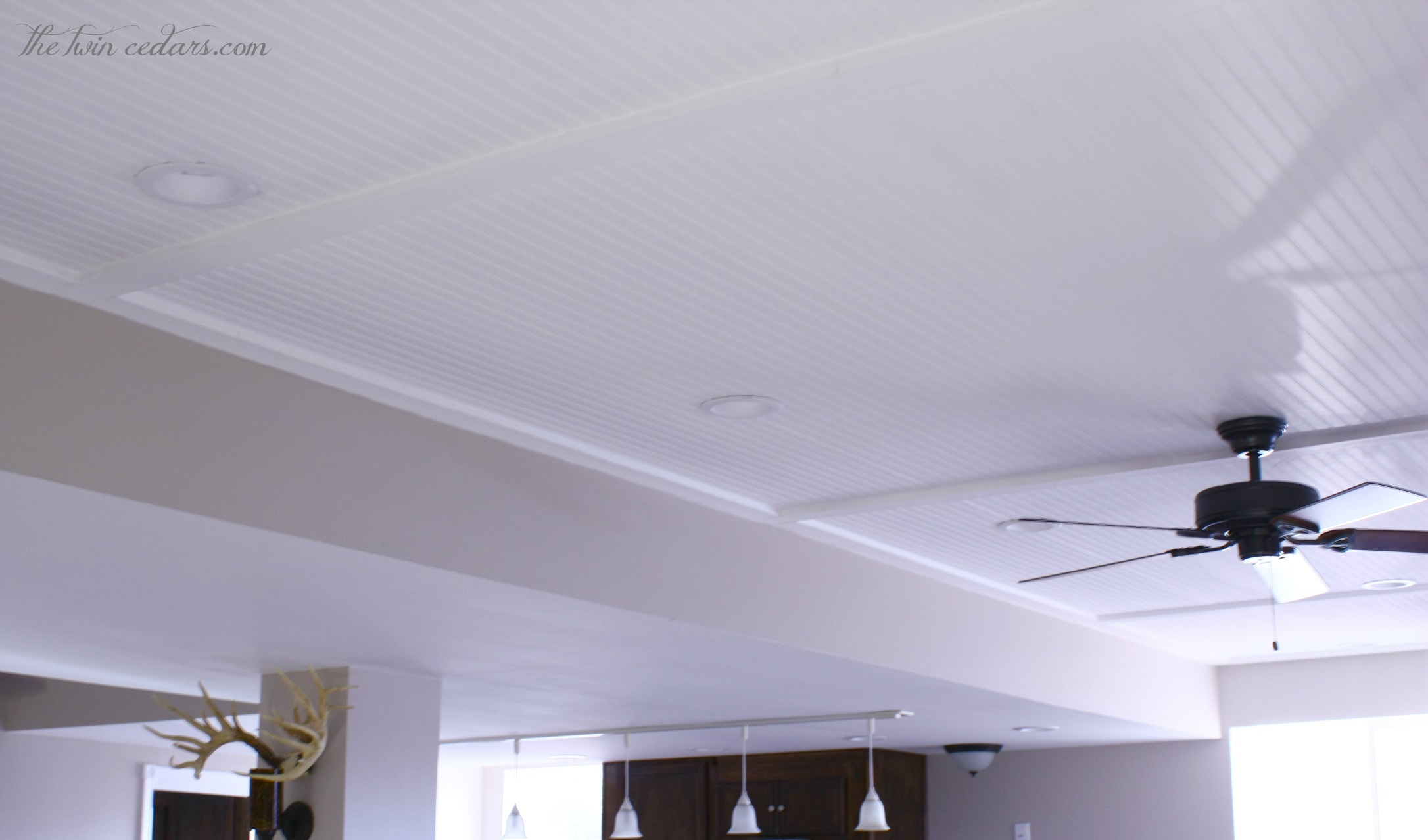 DIY Basement Ceiling, beautiful alternative to drop-ceiling | The ...