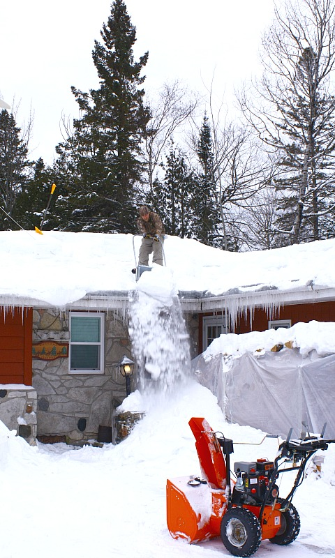 a Northern Michigan Winter of rooftop shoveling