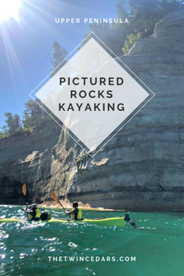 Pictured Rocks Kayaking into the arch